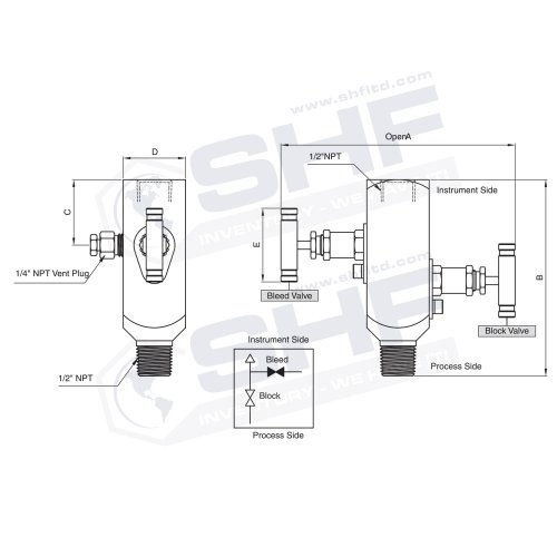 High Pressure Hydraulic Needle Valves 5000 6000 Psi Stainless Needle Valve Shf Inc